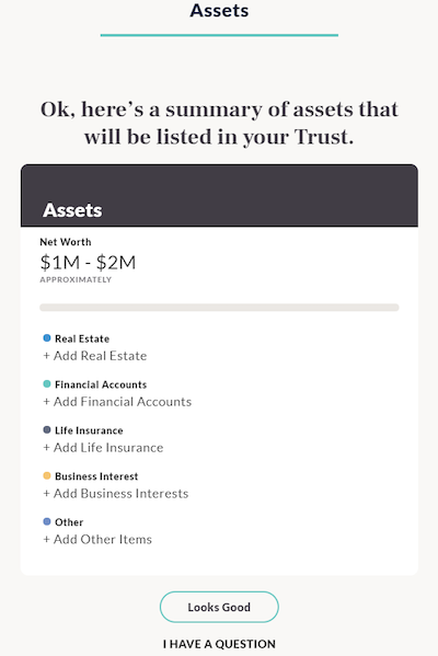 Trust and Will - Assets