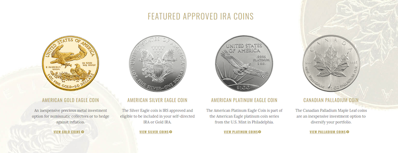 Approved IRA Coins