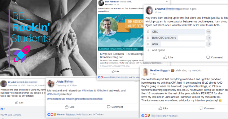Bookkeeper Business Launch Facebook group