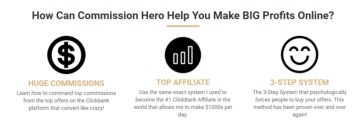 Inches Size Commission Hero  Affiliate Marketing