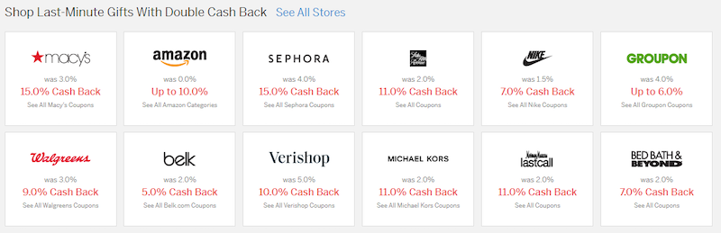 Rakuten Cash Back Options