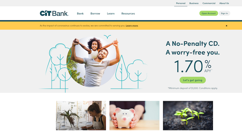 Get Started with CIT Bank