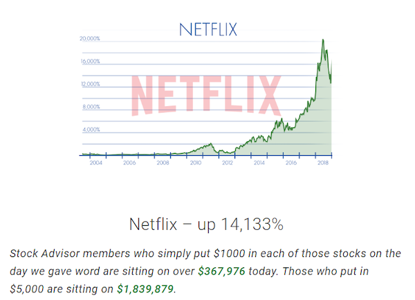 Motley Fool Netflix Stock Pick