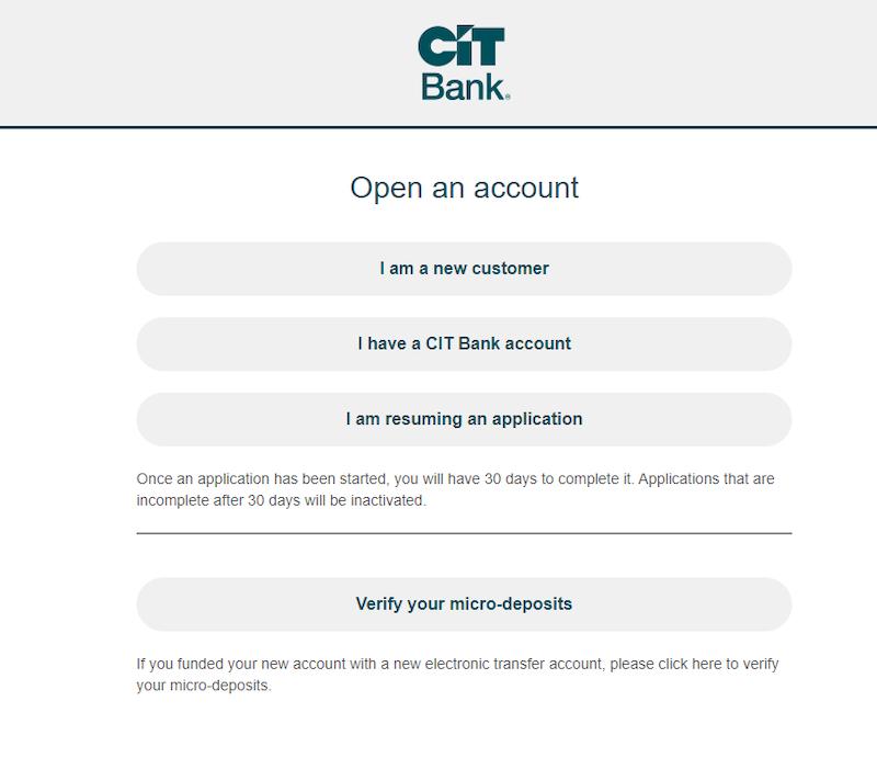 Open CIT Bank Account