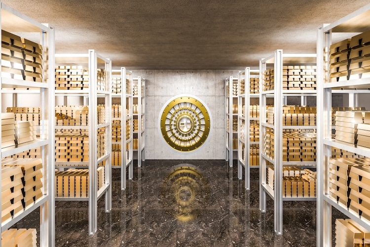 Gold Bullion Storage Vaults